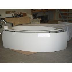 Eck-Badewanne Weiß Größe  175x110 (Duscholux -Malaga 600470000001)